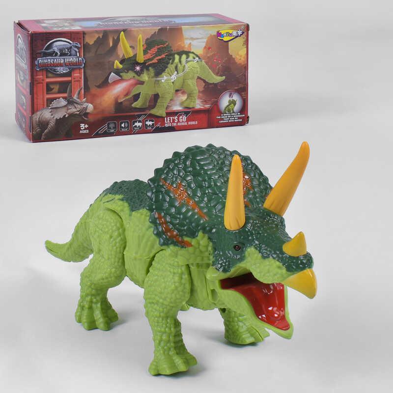 Динозавр Трицератопс музыкальный интерактивный ходит