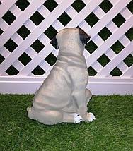 Садовая фигура собаки Мопс с детками, фото 3