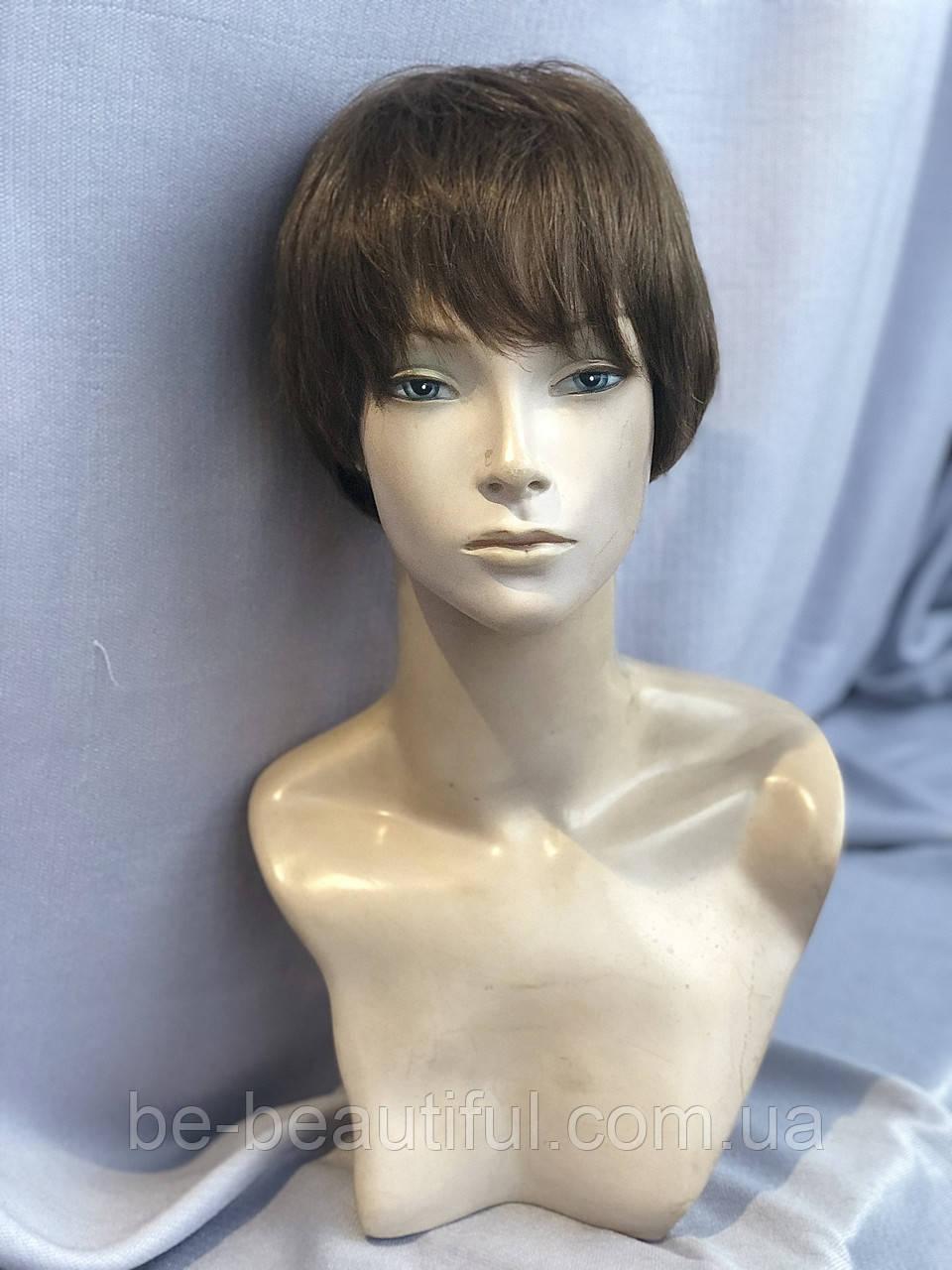 Натуральный парик, цвет темно-русый