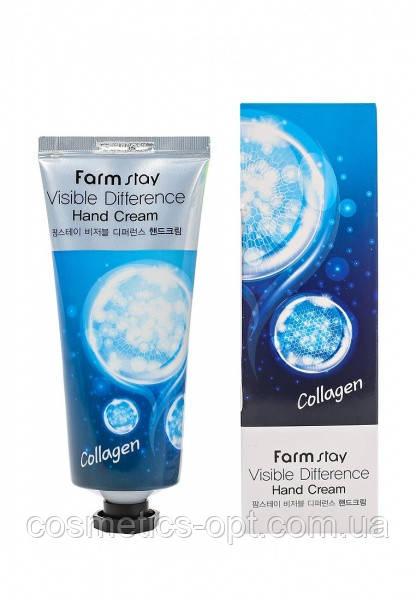 Крем для рук с коллагеном FarmStay Visible Difference Collagen Hand Cream, 100 g