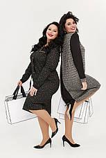 Платье женское миди офисное деловое трикотажное размеры:52-62, фото 2