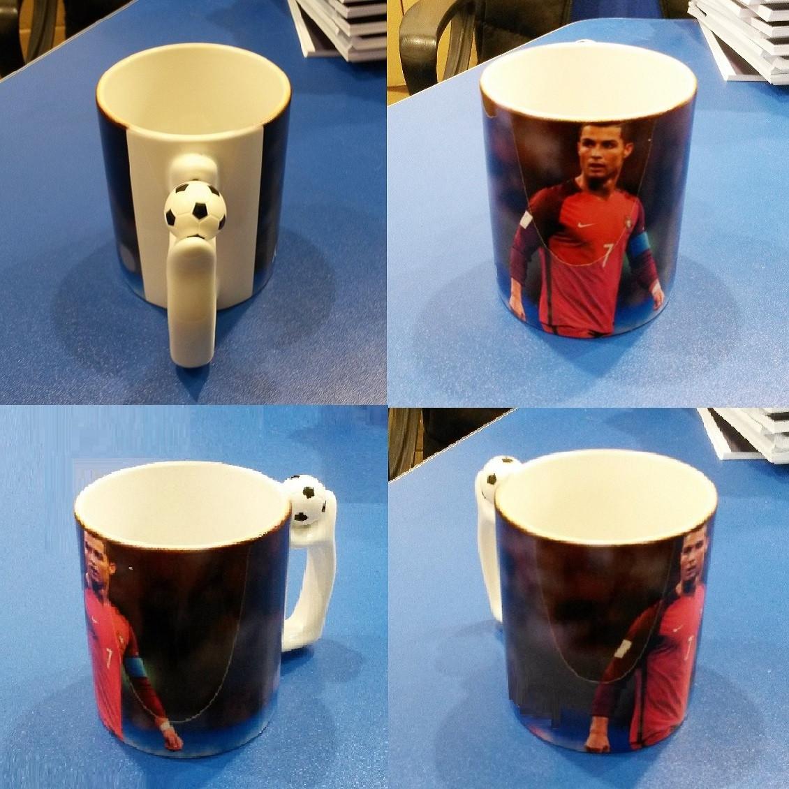 """Чашка с футбольным мячиком на ручке """"Ronaldo"""""""