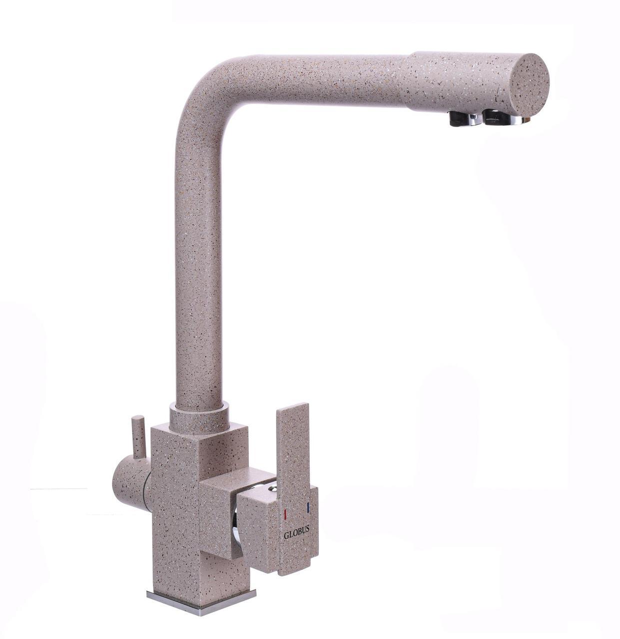 Смеситель для кухни под осмос Globus Lux GLLR-0100-5-TERRA