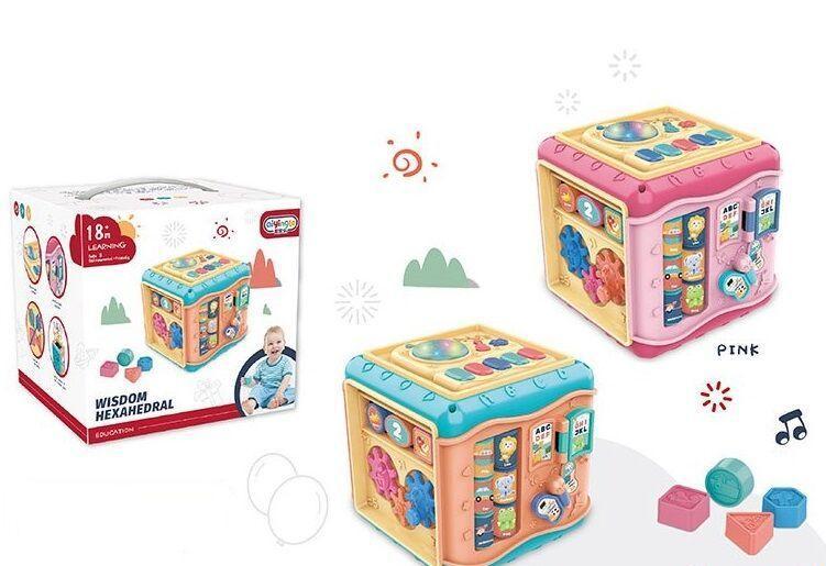 """Куб музыкальный """"Wisdom Hexahedral"""" 2 вида, свет, звук, в коробке 668-136"""