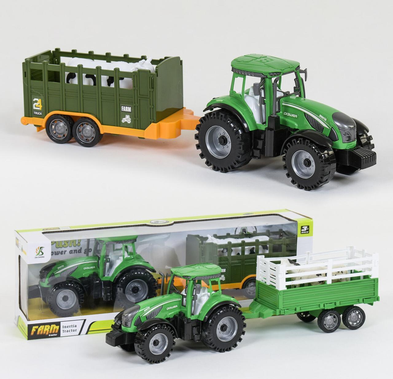 """Трактор с прицепом """"FARM"""" инерция, 2 вида, в коробке 0488-307 /0488-316"""