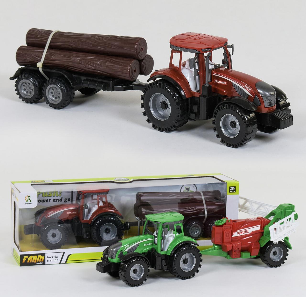 """Трактор с прицепом """"FARM"""" инерция, 2 вида, в коробке 0488-305 /0488-306"""