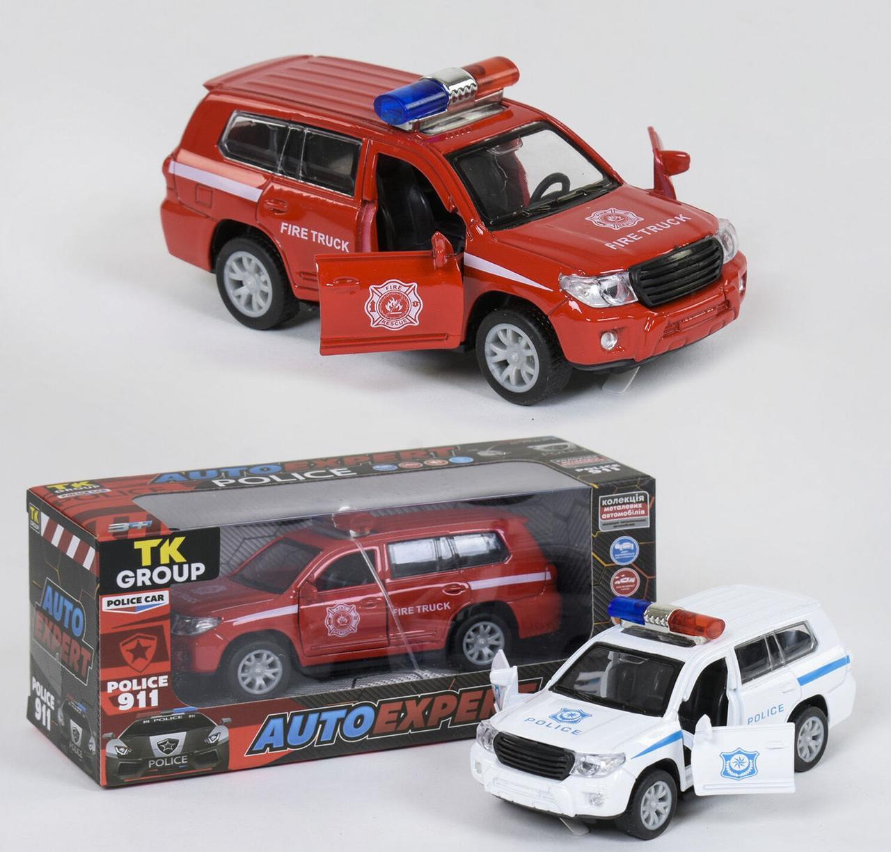 """Машина металлопластик TK Group """"Auto Expert"""", 2 цвета, свет, звук, инерция, открываются двери, в коробке P"""