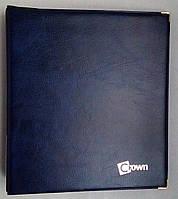Альбом для монет CROWN ROYAL на 221 ячейку с металлическими уголками Синий (jk8wet)