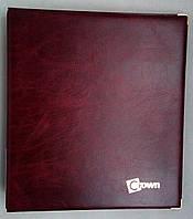 Альбом для монет CROWN ROYAL на 221 ячейку с металлическими уголками Бордо (g9s3gv)