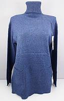 Туника - свитер женская 575 размер 50-56 синяя