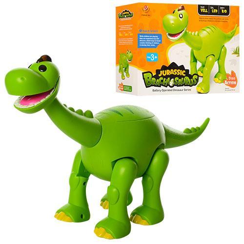 Динозавр игрушка от батареек ходит свет звук