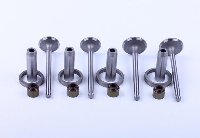 Клапана впуск выпуск с седлами и направляющими  TY295 (Xingtai 220/224) КОД  7425