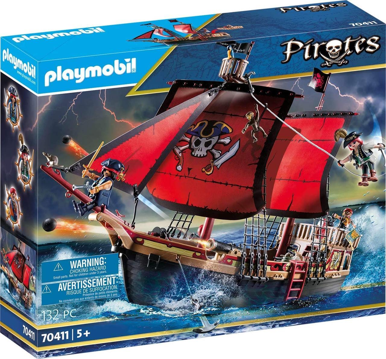 Плеймобил Пиратский боевой корабль — череп 70411 Playmobil Pirates  Skull Fighting Ship