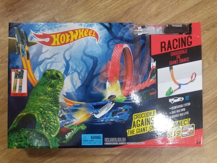 Автортек Hot Wheels набор Трек запуск ХотВилс Змея Крокодил