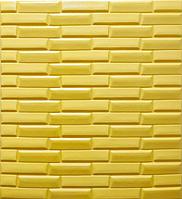 Новинка! 3Д панелі самоклеючі для стін під цеглу рельєфний Білий
