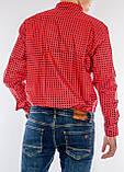 Рубашка мужская G 1276003 в клетку красная, фото 4