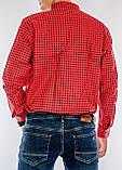 Рубашка мужская G 1276003 в клетку красная, фото 2