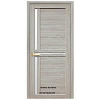 Двери межкомнатные Мода Тринити Новый Стиль Экошпон со стеклом сатин 60, 70, 80, 90