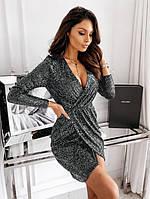 Женское яркое вечернее платье с пайетками