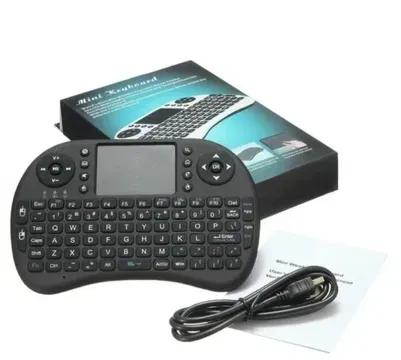 Беспроводная мини Клавиатура с подсветкой тачпадом и LED пультСмарт TV