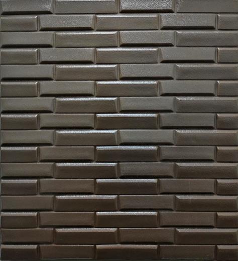 3Д панелі самоклеючі для стін під цеглу рельєфний Кави, 7 мм