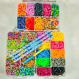 Набор 20 000 резиночек в среднем пластиковом чемодане, премиум качество, фото 3