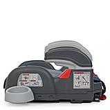 Автомобильный бустер RORO Isofix Navy 1144 детский, автокресло, изофикс, с подлокотником и подстаканником, фото 5