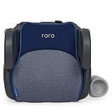 Автомобильный бустер RORO Isofix Navy 1144 детский, автокресло, изофикс, с подлокотником и подстаканником, фото 6