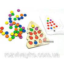 Деревянная игра сортер Елочка со схемами №2 Познавалка 3620100 Poznavalka