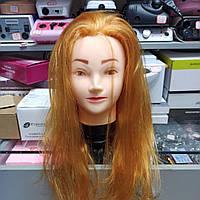 Голова учебная для причесок, стрижки моделирования искусственные волосы, манекен парикмахера