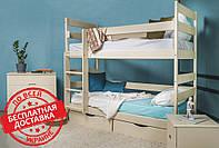Детская деревянная двухъярусная кровать-трансформер Ясна