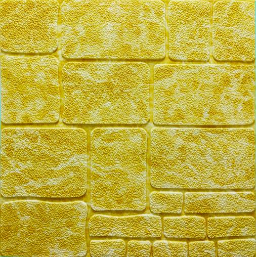 3Д панелі декоративні самоклеючі для стін Культурний камінь Бежевий мармур