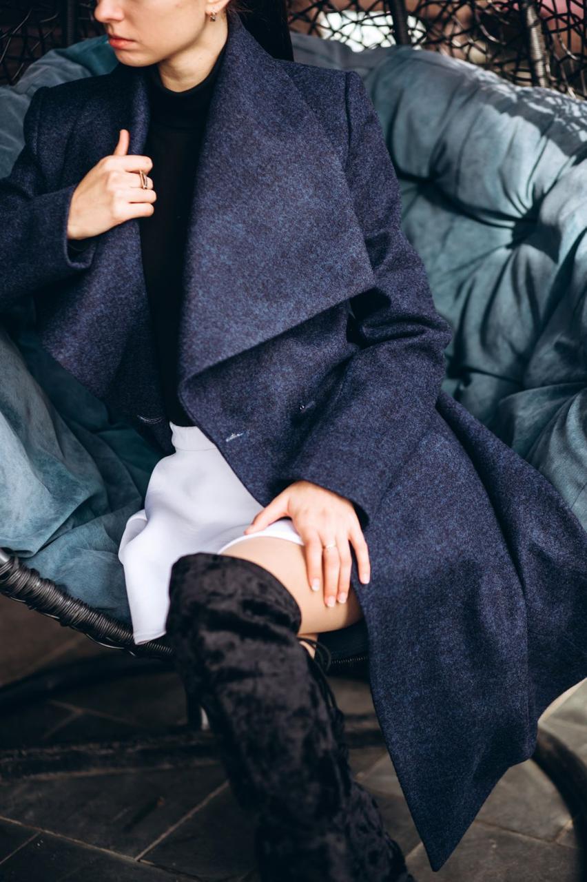 Весеннее пальто синее O.Z.Z.E  Д346
