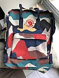 Стильный городской, школьный рюкзак канкен для девочки Fjallraven Kanken classic 16 л камуфляж, фото 7