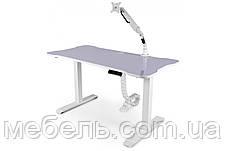 Компьютерный стол с кабель-менеджментом, кронштейном и подъёмным мех.Barsky BSUAW_el-01/BCM-02/BF-02, фото 3
