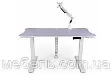 Компьютерный стол с кабель-менеджментом, кронштейном и подъёмным мех.Barsky BSUAW_el-01/BCM-02/BF-02, фото 2