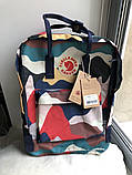 Стильный городской, школьный рюкзак канкен для девочки Fjallraven Kanken classic 16 л камуфляж, фото 8