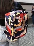 Стильный городской, школьный рюкзак канкен для девочки Fjallraven Kanken classic 16 л камуфляж, фото 5