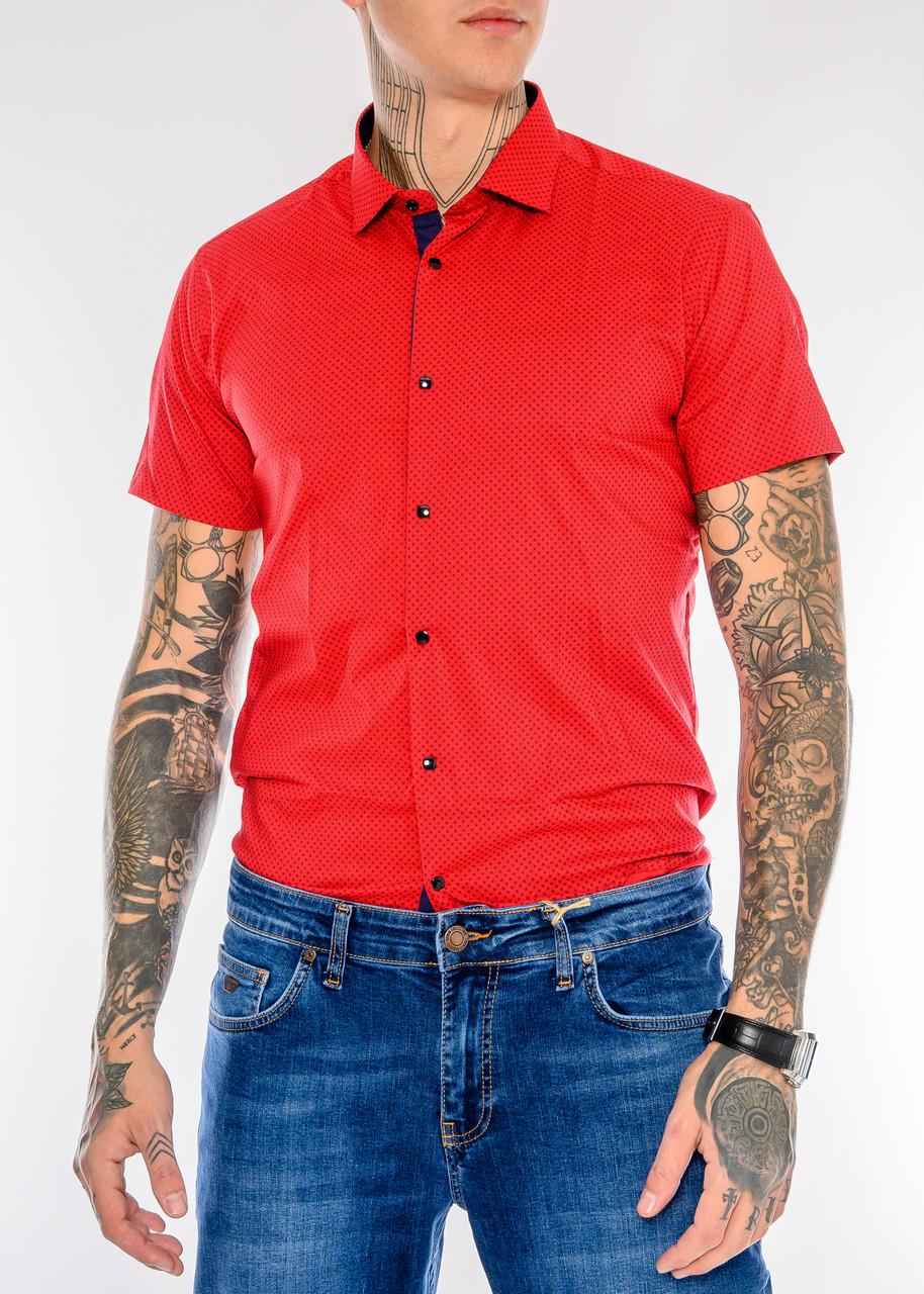 Мужская рубашка Gelix 1237003 красная