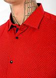 Мужская рубашка Gelix 1237003 красная, фото 5
