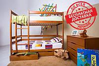 Детская двухъярусная деревянная кровать Амели