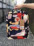 Стильный женский рюкзак-сумка канкен Fjallraven Kanken classic 16 л камуфляж, фото 6