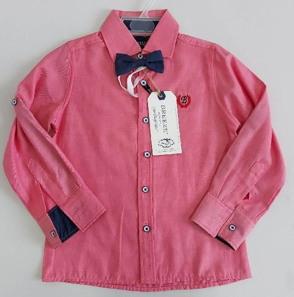 Детская классическая рубашка «Breeze» с бабочкой в комплекте (с 98 по 158 р)