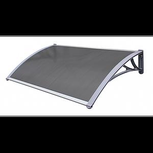 Навіс для вхідних дверей Siker 800-C (800 * 1200) Сірий