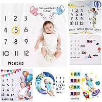 Детская пеленка для фото фоны по месяцам Фотофон