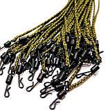 Петли лидкор LeadCore 45lb проклеенный со свинцовым сердечником и быстросъемным вертлюгом , длина 55 см., фото 5