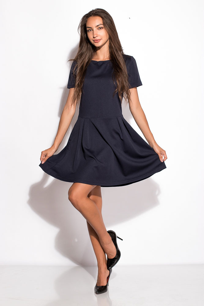 Платье женское 120P068 (Темно-синий)