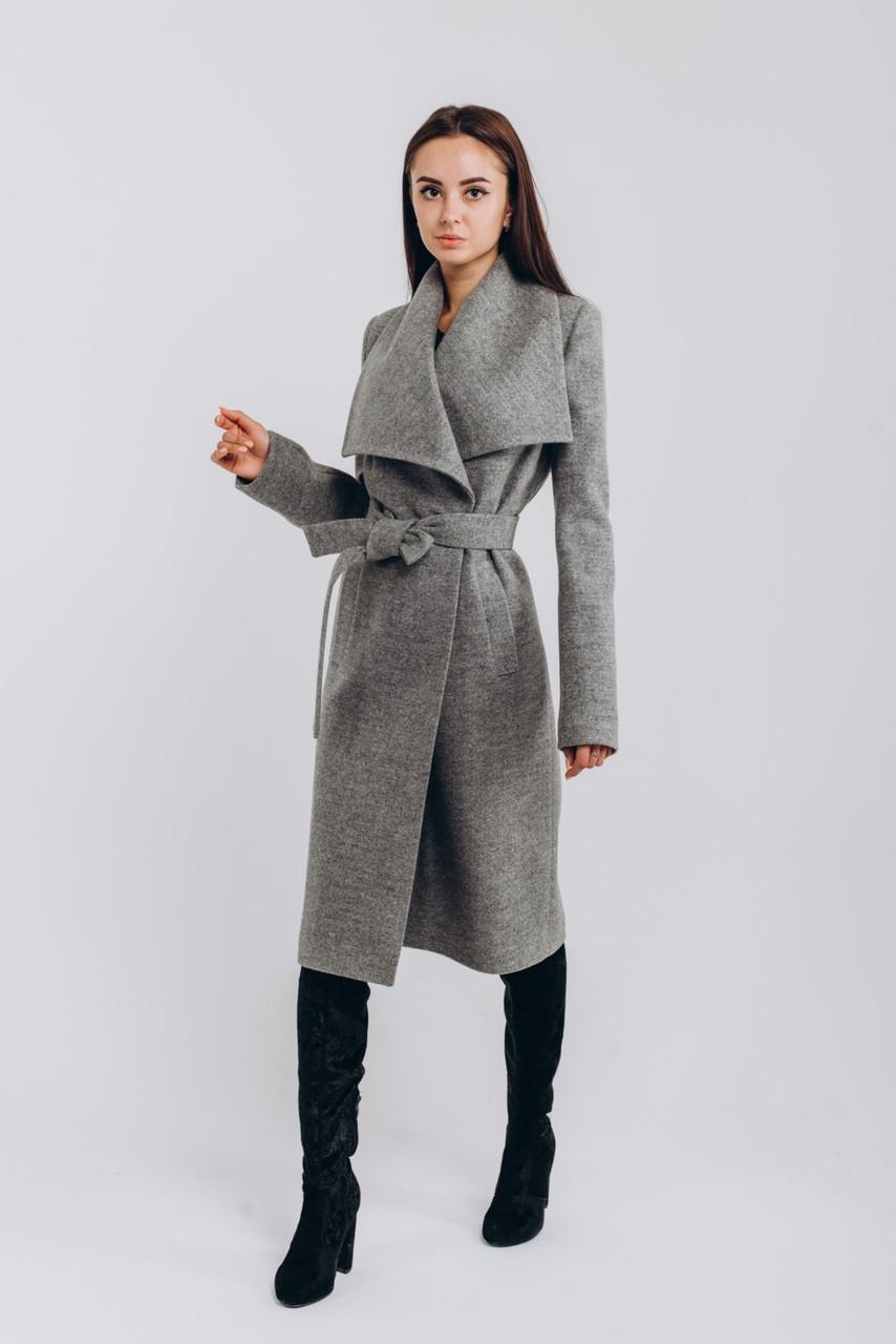 Весеннее теплое серое пальто O.Z.Z.E Д346