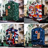 Модный женский рюкзак-сумка канкен синий с рисунками Fjallraven Kanken blue art classic 16 л, фото 10