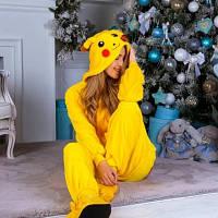 Кигуруми пижама Пикачу размер S - костюм животного, кигурими для взрослого рост 150, 160